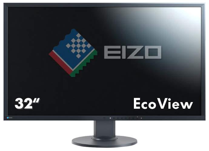 Eizo EV3237-BK 80 cm (31,5 Zoll) Monitor (4K UHD, DVI, HDMI, 5ms Reaktionszeit) schwarz