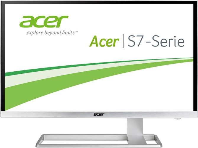Acer S277HKwmidpp 69 cm (27 Zoll) Monitor (DVI, HDMI, Displayport, mini Displayport, UHD, Speaker, 4ms Reaktionszeit) glossy white