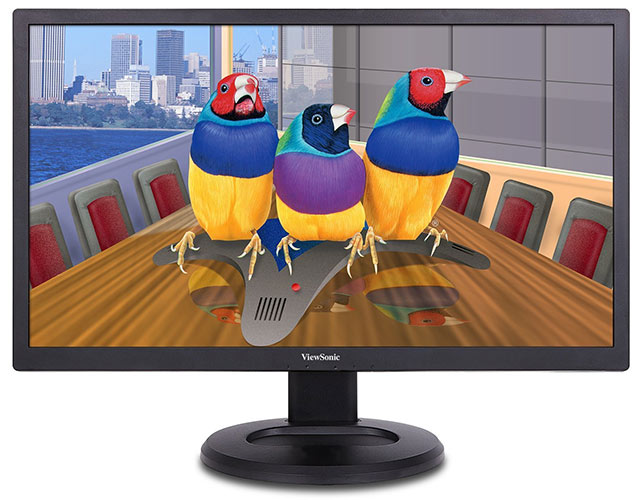 Viewsonic VG2860MHL-4K 71,1 cm (28 Zoll) Business Monitor (UHD, 2 ms, MHL-HDMI, DP, mDP, Lautsprecher, Höhenverstellbar, USB Hub) Schwarz