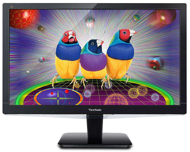 ViewSonic VX2475SMHL-4K 59,9 cm (23,6 Zoll) 4K UHD SuperClear PLS LED-Monitor (HDMI 2.0/MHL/DisplayPort, 2ms Reaktionszeit) Schwarz
