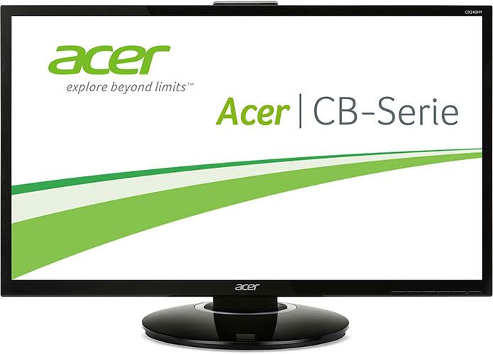 Acer CB240HYKbmjdpr 60 cm (24 Zoll) Monitor (DVI, HDMI 2.0, Höhenverstellbar, Pivot, UHD 3.840 x 2.160, 6 ms Reaktionszeit, Lautsprecher, EEK C) schwarz