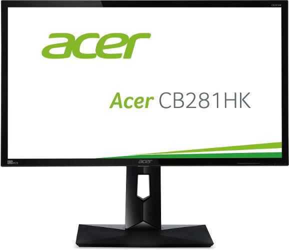 Acer CB1 CB281HKbmjdprx 71 cm (28 Zoll) Monitor (DVI, HDMI 2.0, DisplayPort, höhenverstellbar, Pivot, Ultra HD, 3.840 x 2.160, 1ms Reaktionszeit, EEK C) schwarz