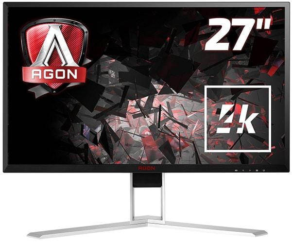 AOC Agon AG271UG 68 cm (27 Zoll) Monitor (HDMI, Displayport, USB 3.0, 3840 x 2460, 60 Hz, 4ms, Nvidia G-Sync) schwarz/rot